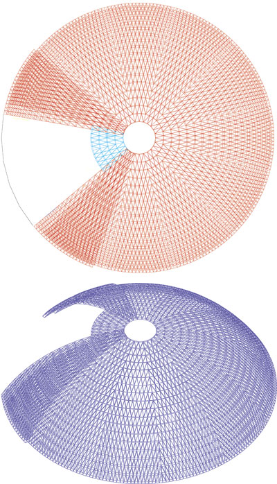 Сферический купол диаметром