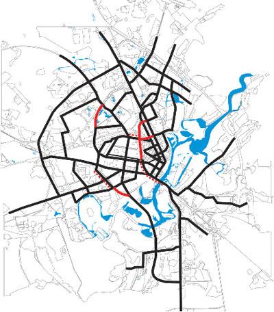 транспортных магистралей в