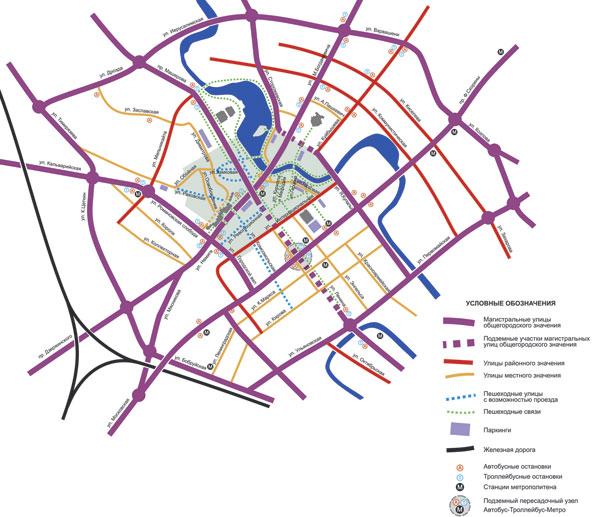 Схема транспортно-пешеходных