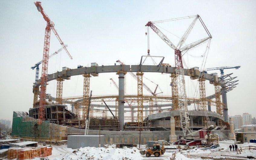Строительство объекта «Екатеринбург Арена»