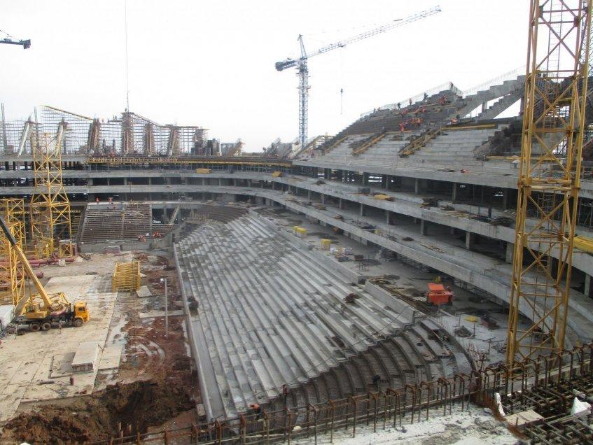 Строительство трибун стадиона «Самара Арена»