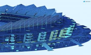 Конечно-элементная расчетная модель, выполненная в ПК SOFiSTiK