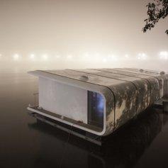 плавучий дом на реке Влтаве от atelierSAD