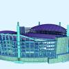 Конечно-элементная расчетная модель, выполненная в ПК SOFiSTiK (вид 1)