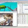 Рис.1. Визуализация производственного процесса - модель объекта, сопоставляется с реальным изображением площадки и графиками поставки и исполнения работ