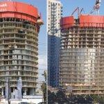 Башни в процессе строительства