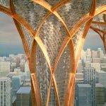 Футуристический проект Tranquil Oasis - оазис над мегаполисом