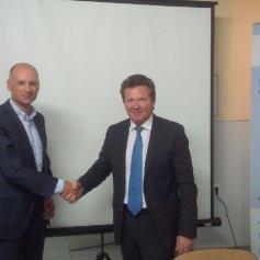 Алексей Кукин, генеральный директор ПСС и Франсис Гийемар (Francis Guillemard), президент и генеральный директор GRAITEC